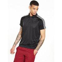 adidas D2M 3S Polo, Black, Size L, Men
