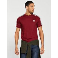 adidas Originals California T-shirt, Burgundy, Size 2Xl, Men
