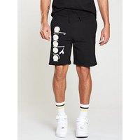 Diadora Bermuda Shorts, Black, Size M, Men