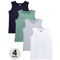 Mini V by Very Pack of 4 Boys Tank Tops, Multi, Size Age: 6-9 Months