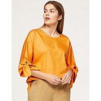 Violeta Plus Size Wrap Blouse - Yellow, Yellow, Size 20, Women