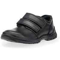 Start-rite Boys Engineer Velcro Strap School Shoe - Black, Black, Size 3 Older