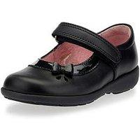 Start-rite Girls Maria Velcro Strap School Shoe - Black, Black, Size 7.5 Younger
