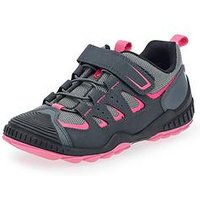 Start-rite Charge Girls Lace Up Trainer - Grey/Pink, Grey/Pink, Size 11 Younger