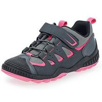 Start-rite Older Girls Charge Lace Up Trainer - Pink/Grey, Grey/Pink, Size 3.5 Older
