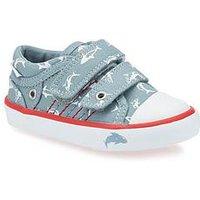 Start-rite Start Rite Sea Spray Canvas Shoe, Blue, Size 9.5 Younger