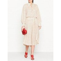 Joseph Crosby Heart Print Silk Maxi Dress - Ecru
