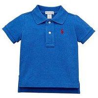 Ralph Lauren Baby Boys Classic Short Sleeve Polo, Blue Heather, Size 9 Months