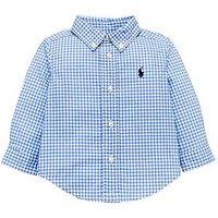Ralph Lauren Baby Boys Gingham Shirt, Light Blue, Size 18 Months
