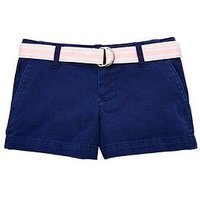 Ralph Lauren Girls Chino Belted Short, French Navy, Size Age: 7 Years, Women