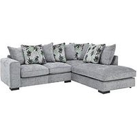 Palm Right Hand Fabric Scatter Back Corner Chaise Sofa