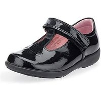 Start-rite Girls Daisy May School Shoe - Black, Black Patent, Size 7.5 Younger