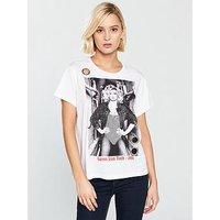 Guess Icon Team T-shirt - True White, True White, Size L, Women