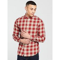 Selected Homme L/s Jason Check Shirt, Red, Size M, Men
