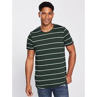Jack & Jones Jack & Jones Premium Sadi S/s Stripe T-shirt, Green, Size S, Men