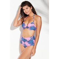 V by Very Mix & Match Underwired Twist Bikini Top - Printed, Print, Size 32A, Women