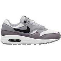 Nike Air Max 1 Junior Trainer, Grey/White, Size 5.5