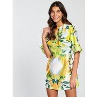 Skeena S Belle Shift Dress - Lemon/Lime