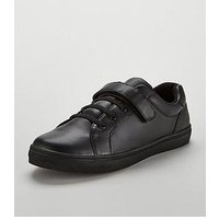 V by Very Freddie Sport Lux Boys Shoe, Black, Size 13 Younger