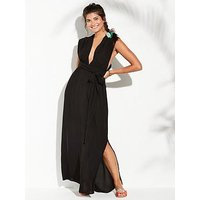 V by Very Multiway Maxi Beach Dress - Black, Black, Size 20, Women
