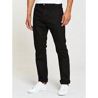 V by Very Straight Fit Jean, Black, Size 34, Inside Leg Regular, Men