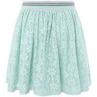 Monsoon Lydia Lace Skirt, Aqua, Size Age: 11-12 Years, Women