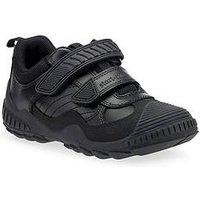 Start-rite Boys Extreme Pri Velcro Strap School Shoe - Black, Black, Size 13 Younger