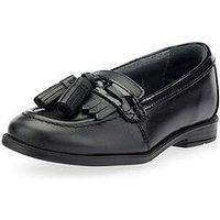 Start-rite Girls School Tassle Loafer - Black, Black, Size 11.5 Younger