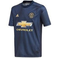 Boys, adidas Manchester United Junior 18/19 3rd Shirt, Collegiate Navy, Size 9-10 Years