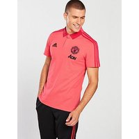 adidas Manchester United Polo, Pink/Black, Size 3Xl, Men