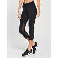 Nike Training Fly Victory Crop Legging, Black, Size Xs, Women