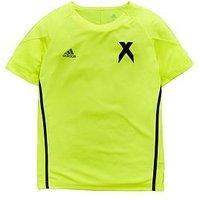 Boys, adidas Youth X Jersey, Yellow, Size 9-10 Years