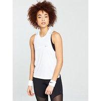 Nike Running Miler Tank - White , White, Size M, Women