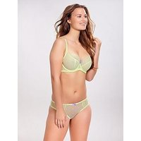 Cleo by Panache Marcie Balconette Bra - Light Lime, Lime, Size 30F, Women