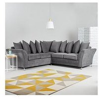 Product photograph showing Dury Fabric Corner Group Scatter Back Sofa