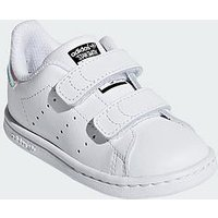 adidas Originals Adidas Originals Stan Smith Infant Trainer, White/Irredescent, Size 8