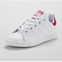 adidas Originals Adidas Originals Stan Smith Childrens Trainer, White/Pink, Size 10
