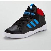 adidas Originals Adidas Originals Vrx Mid Childrens Trainer, Black/Blue, Size 2