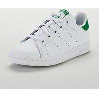 adidas Originals Adidas Originals Stan Smith Childrens Trainer, White/Green, Size 13
