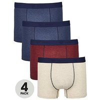 V by Very 4pk Marl Trunks, Multi, Size 3Xl, Men