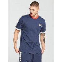 Umbro Projects Ringer Tape T-Shirt, Navy, Size Xl, Men