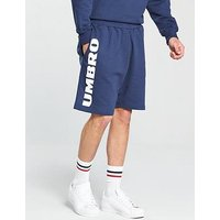 Umbro Projects Side Logo Sweat Shorts, Navy, Size S, Men