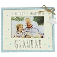 Product photograph showing Love Life Mdf Photo Frame 6 X 4 - Promoted To Grandad