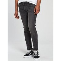 Jack & Jones Jack & Jones Intelligence Liam Skinny Fit Jean, Grey Wash, Size 28, Length Short, Men