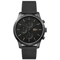 Lacoste 2.12 Black Multi Dial Black Fabric Strap Mens Watch, One Colour, Men