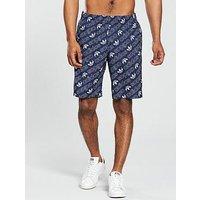 adidas Originals Monogram Shorts, Navy, Size Xl, Men