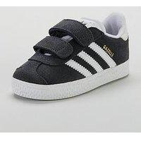 adidas Originals Gazelle Infant Trainer, Grey/White, Size 7