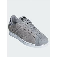 adidas Originals Adidas Originals Superstar Junior Trainer, Grey, Size 5