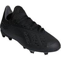 adidas Adidas Junior X 18.3 Firm Ground Football Boot, Black, Size 10