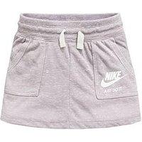 Nike Younger Girls Gym Vintage Short - Grey , Grey, Size 4-5 Years, Women